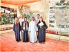Hungarian Tourists posing with the Curator of Al Diriyah 'Open Museum'