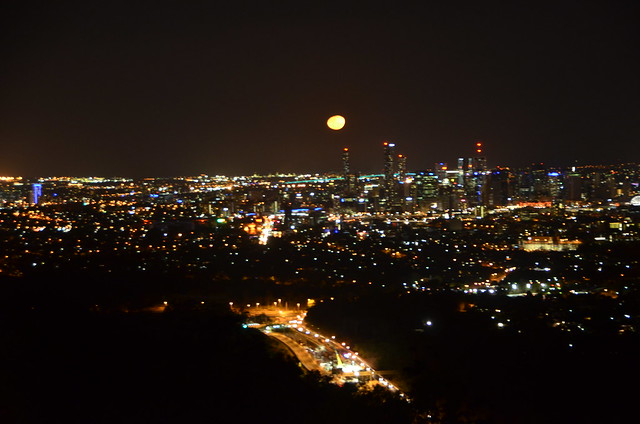 moon from mt cootha