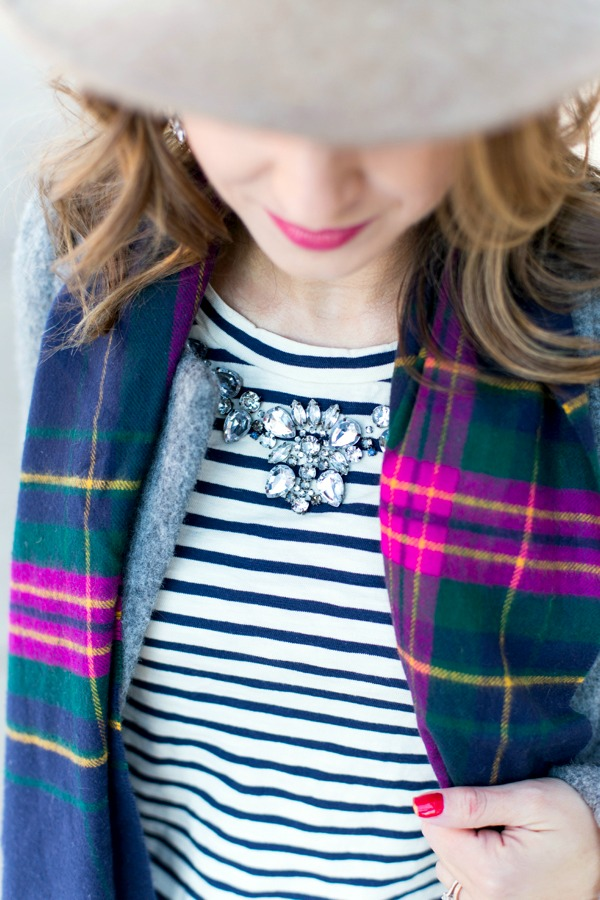 J.Crew Jeweled Collar Tee
