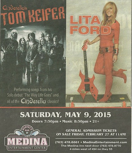 05/09/15 Tom Keifer/ Lita Ford @ Medina Entertainment Center, Medina, MN