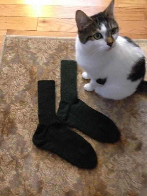 Mismatched Green socks