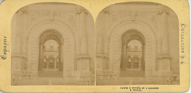 Fotografía Estereoscópica hacia 1868 por E. Lamy. Alcázar