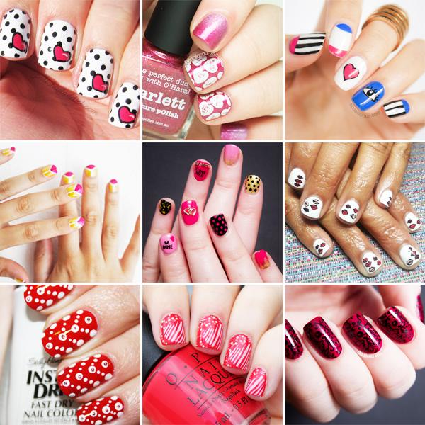 2015 valentines day nail art designs