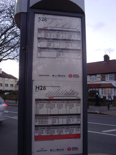 528 and H28 Timetables