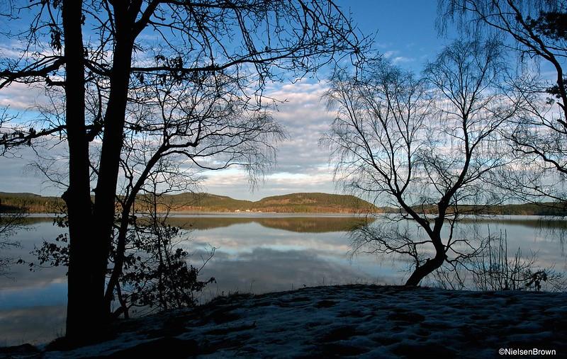 Early evening Stora Hornsjön-imp