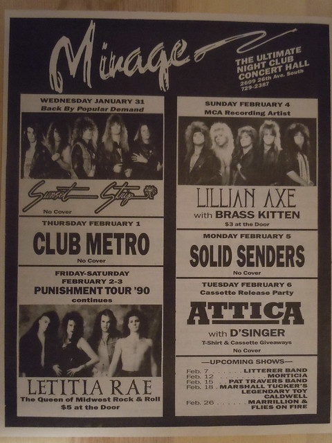 01/31/90 - 02/06/90 Mirage, Minneapolis, MN
