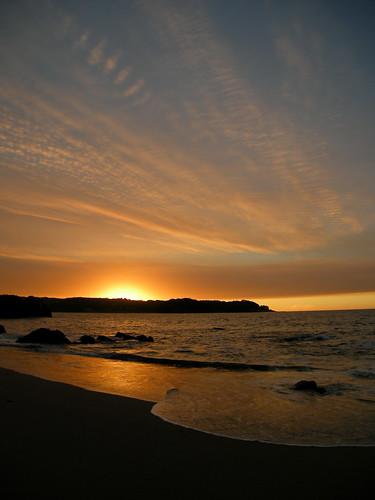 chile atardecer mar nubes cordilleradelacosta dichato chilecentral pingueral regióndelbiobío océanopacífico coliumo