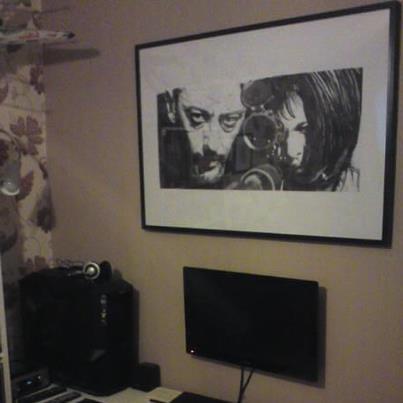 Leon Sniper Scene Poster