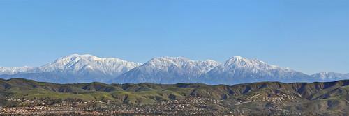panorama snow mtbaldy sangabriels