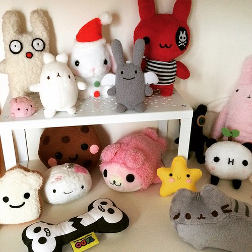My bunnies have their own little shelf now. I need to get some more of these (shelves and bunnies)