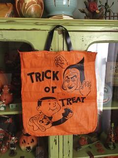'Trick Or Treat' Cloth Bag Circa 1950s Halloween