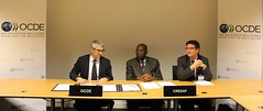 Cérémonie d'ouverture à la signature du protocole d'accord entre le CREDAF ET L'OCDE