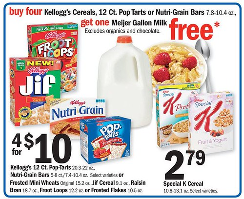 photograph about Printable Cereal Coupons named Refreshing Kelloggs Cereal Printable Coupon codes - $1.50 ea at Meijer