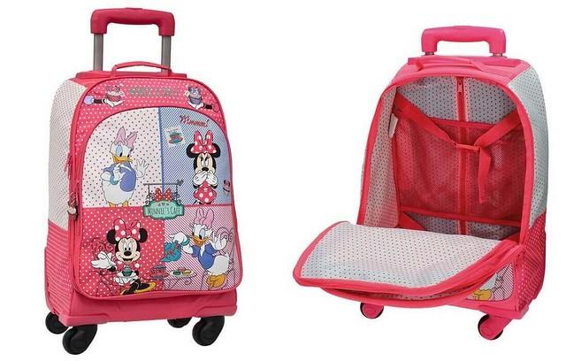 mochila con ruedas de Disney Minnie y Daisy