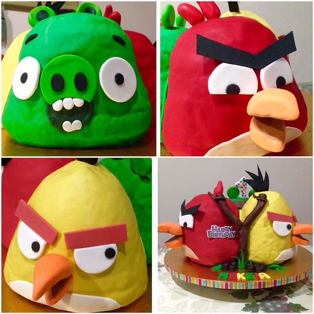 Angry Birds Cake by Nimfa Maravilla of Too-Nice-to-Slice