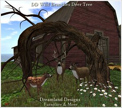 DD Wild Branches Deer Tree Vendor