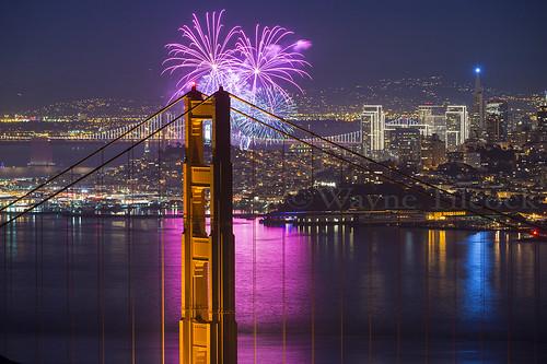 sanfrancisco california city reflection night nikon fireworks marin newyear coittower embarcadero bayarea headlands ghiradelli tranasamerica