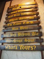 Bull & Bush Beer Menu