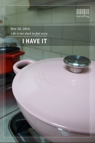 第三個Le Creuset鍋--22cm粉紅媽咪鍋