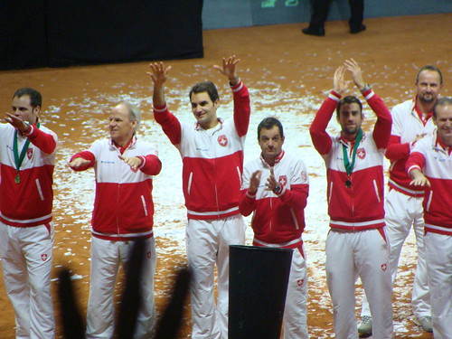 Swiss Team Celebrate