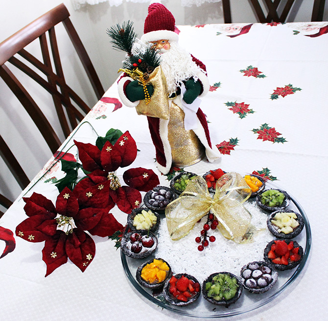 4-Guirlanda de cupcakes natalina sempre glamour