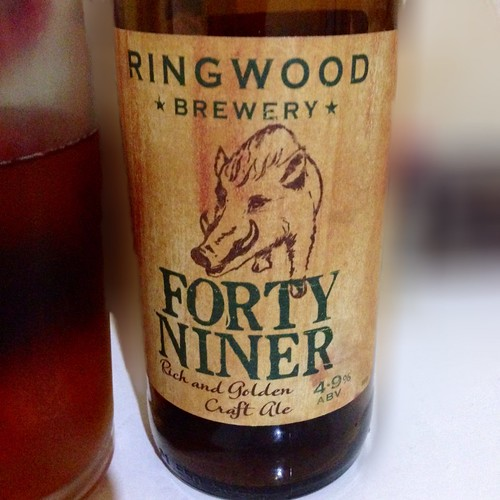 Ringwood Brewery, Forty Niner. Ale. Real ale. Craft ale. Beer.