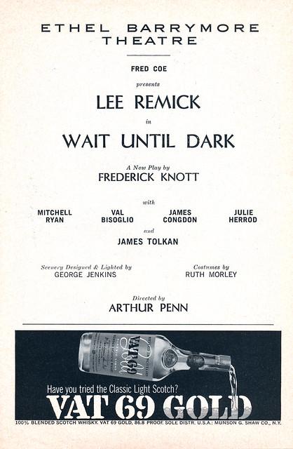 Wait Until Dark Cast, 1966