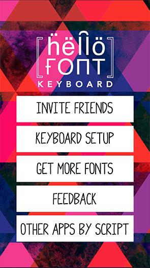 Hello Font Keyboard