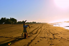 Lisset Lopez :) Flipping morning. Monterrico, Guatemala.