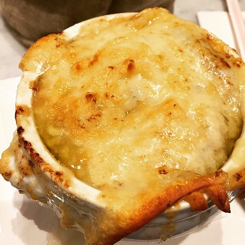 The BESt French Onion Soup EVER from Maison Kayser on 40th between 5th and Avenue of the Americas.. And Franck took very good care of us, too!  #withPeterO #maisonkayser #frenchonionsoup #bestfrenchonionsoupever #foodtrip #foodporn #gastronomictreat #manh