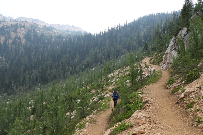 Hiking toward Cutthroat Pass on the PCT
