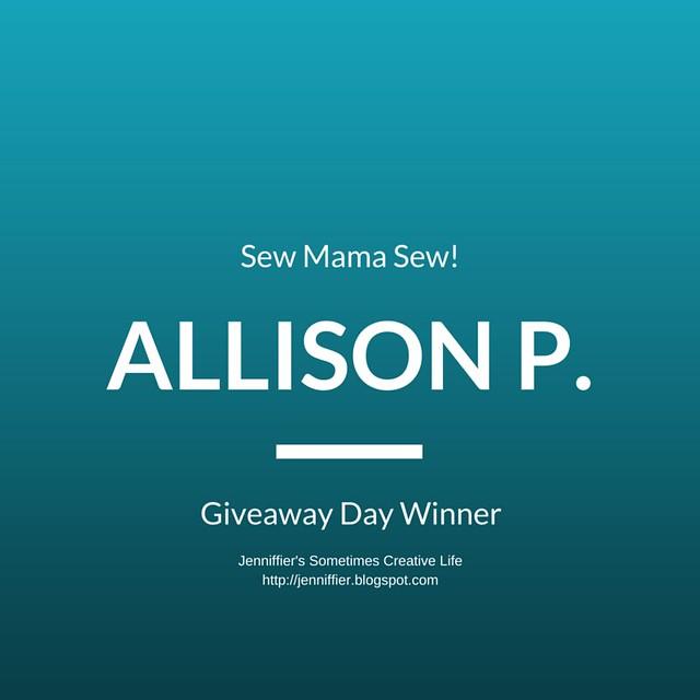 Sew Mama Sew! Giveaway = Charm Pack Winner (1)