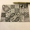 12 more squares to go! #wip #zentangle #pen #drawing #dailydraw #dailyart #pattern #lines #abstract #art #patchwork