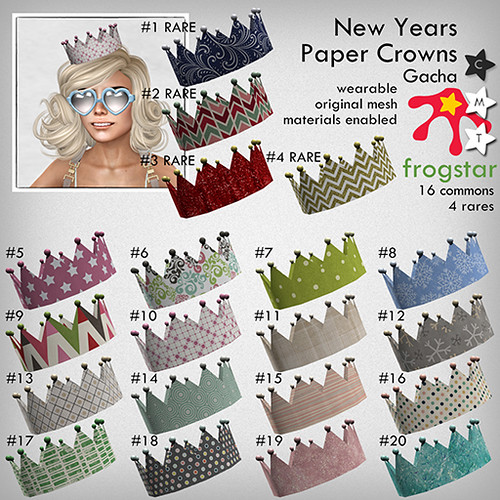 Frogstar - New Years Paper Crowns Gacha Poster