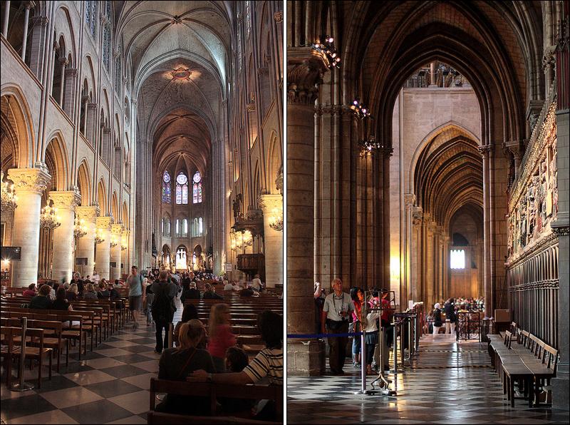 Notre Dame de Paris naves