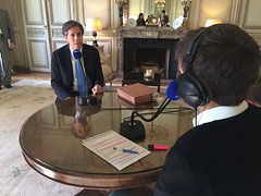 Deputy Secretary of State Antony 'Tony' Blinken participates in an interview with Europe 1 at the U.S. Embassy in Paris, France, on March 2, 2015. [State Department photo/ Public Domain]