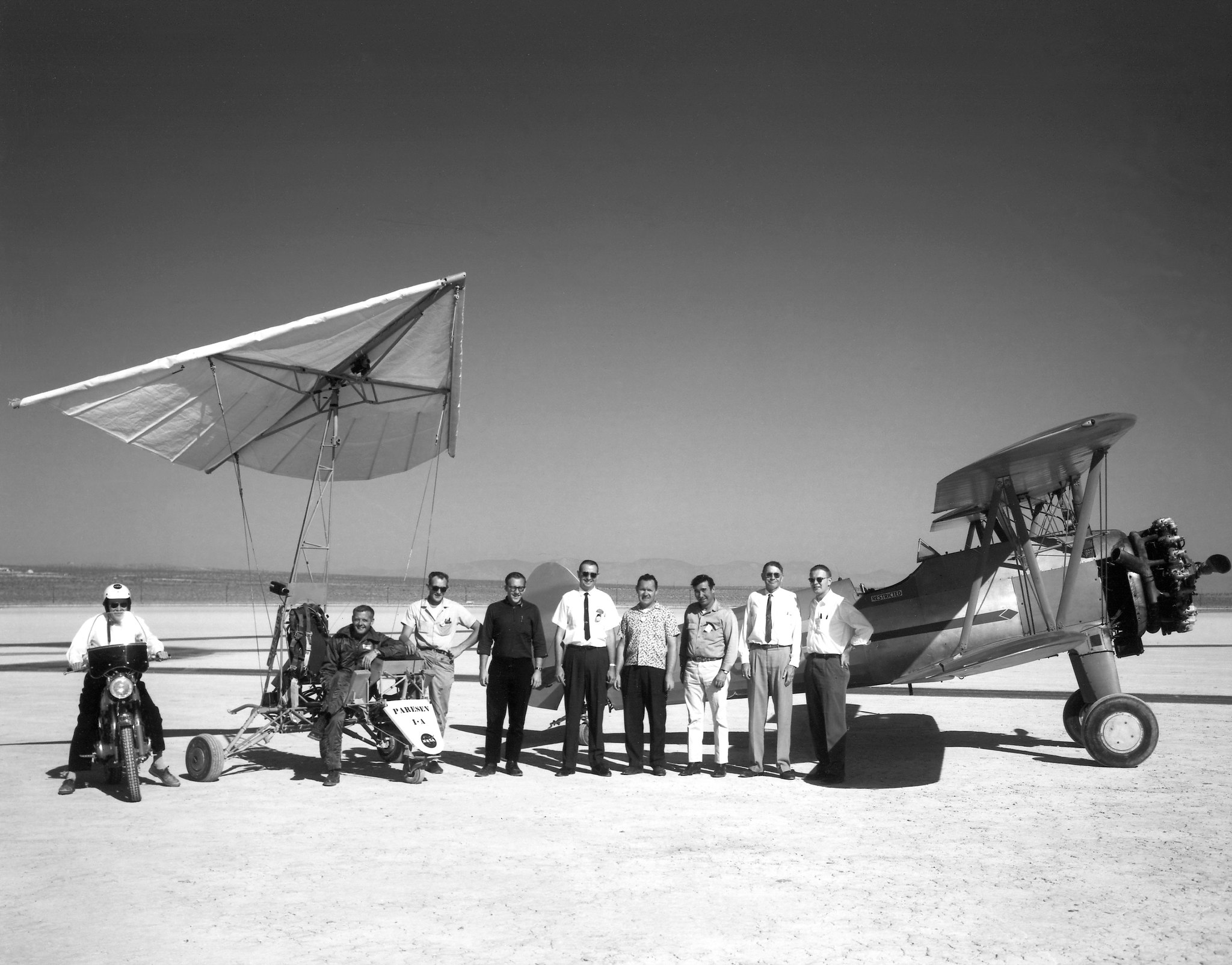 Paresev 1-A and Tow Plane with Crew and Pilot