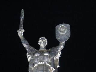 Image of Mother Motherland. monument statue night nightshot mother ukraine kiev kyiv motherland motherlandmonument mothermotherland themotherlandmonument батьківщинамати
