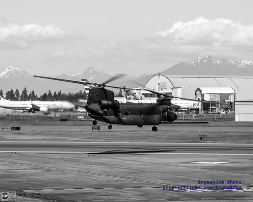 US Army MH-47G Chinook 03-03730 Turning Onto the Active Paine Field Runway