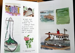 Johnny's Dock sketchbook page