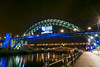 Tyne Bridge with Rugby World Cup sign