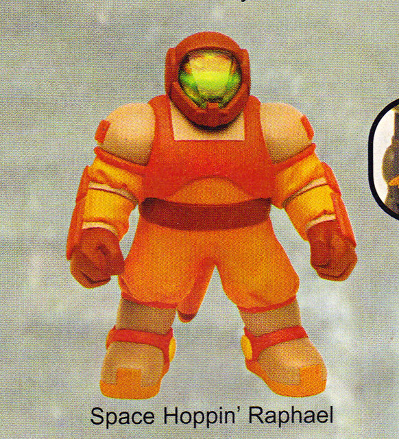 "LEE'S TOY REVIEW #xx, pg. 37 / ""TOY FAIR 2004"" , 'TMNT - 2k3 Peek' - ""SPACE HOPPIN' RAPHAEL"" early prototype  (( March 2004 ))"