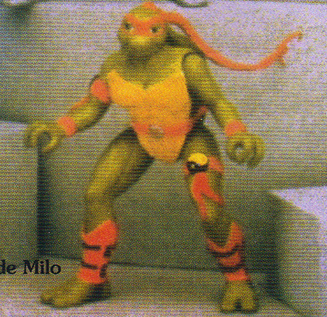 "Tomart's Action Figure Digest #xx :: pgs.26, 27 TOY FAIR '97, PLAYMATES ""NINJA TURTLES: THE NEXT MUTATION / ..early ""pink-bandana"" Venus  (( April 1997 ))"