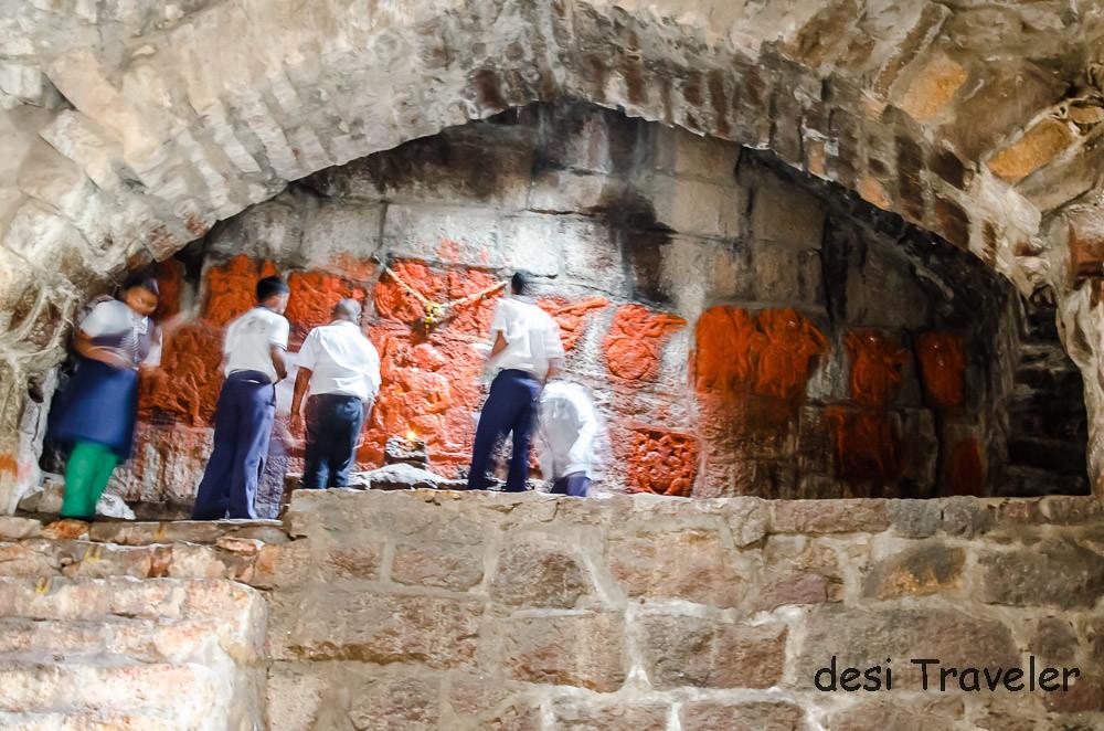 Idols showing Ramayana story in Golconda Fort