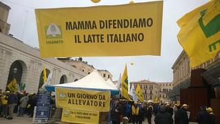 La Coldiretti in piazza del Ferrarese