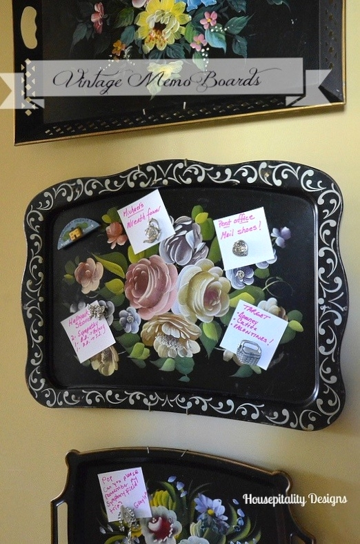 Vintage Tole Tray Memo Board-Housepitalty Designs