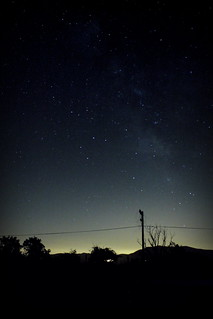 Milky Way from the railway
