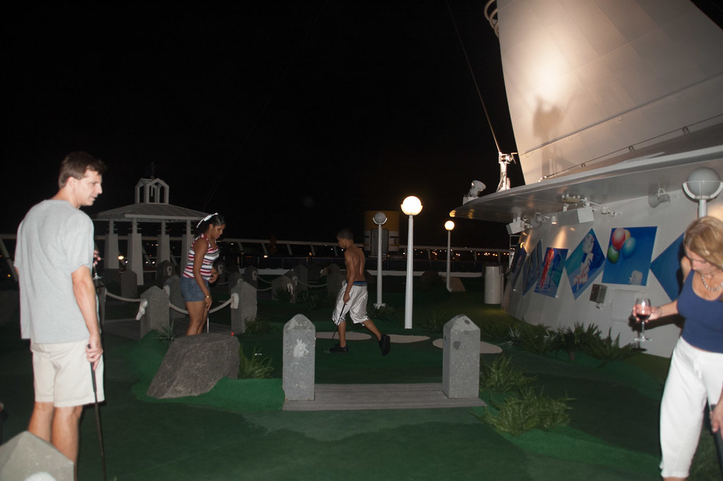 Miniature Golf Course on Royal Caribbean