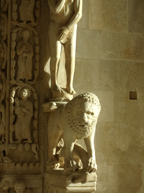 Adam and Lion, St. Lawrence Cathedral of Trogir, 1240