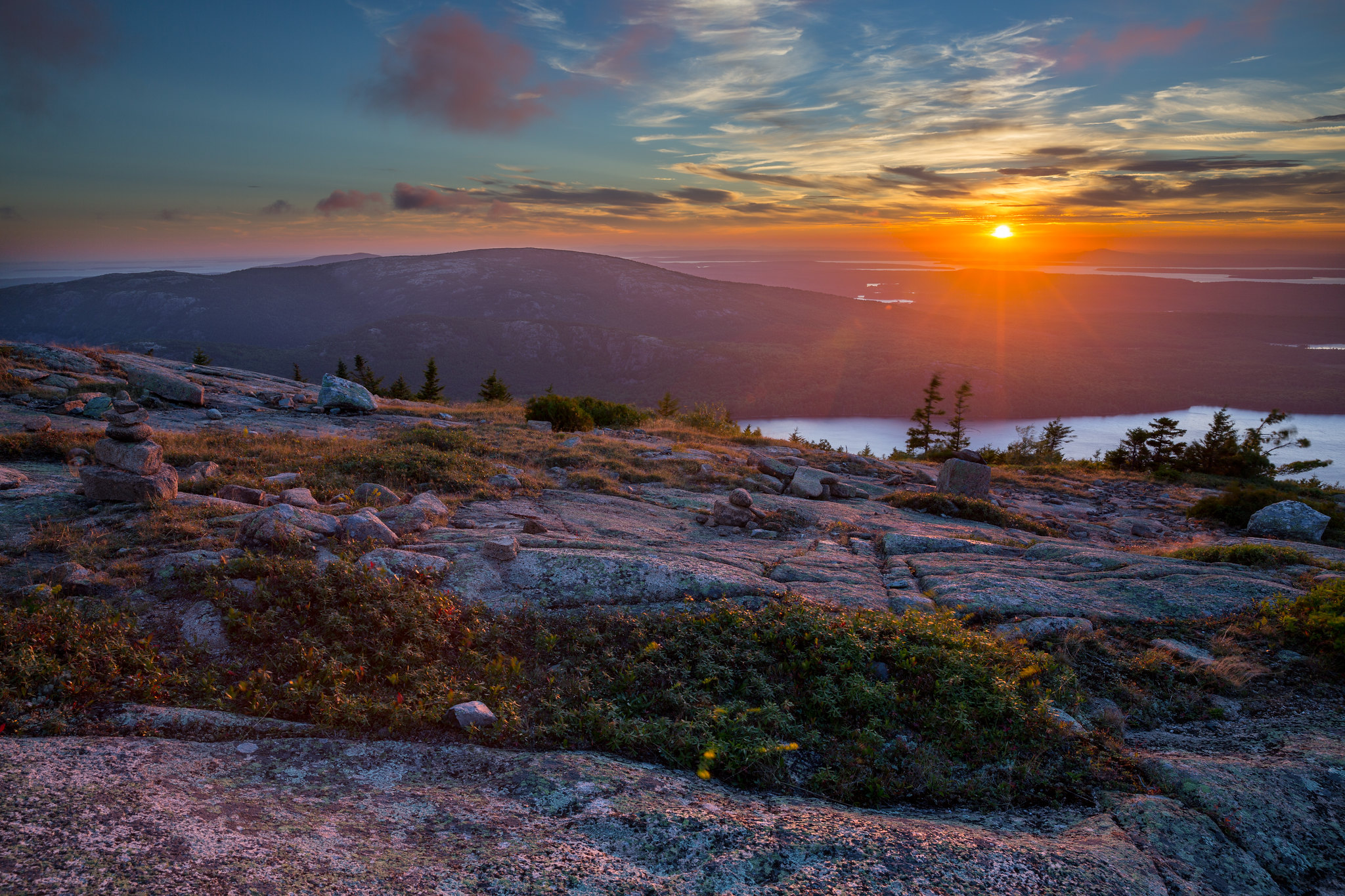 Sunset At Cadillac Mountain Acadia National Park Maine